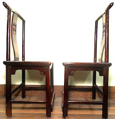 Antique Chinese High Back Chairs (5614) (Pair), Circa 1800-1849 12