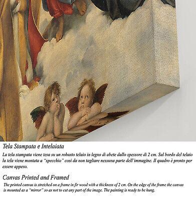 🌹Quadro Raffaello Madonna Sistina Stampa Fine Art su Tela Vernice Pennellate 🎨 3