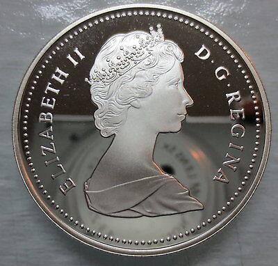 1986 Canada Vancouver Centennial Proof Silver Dollar Coin 2