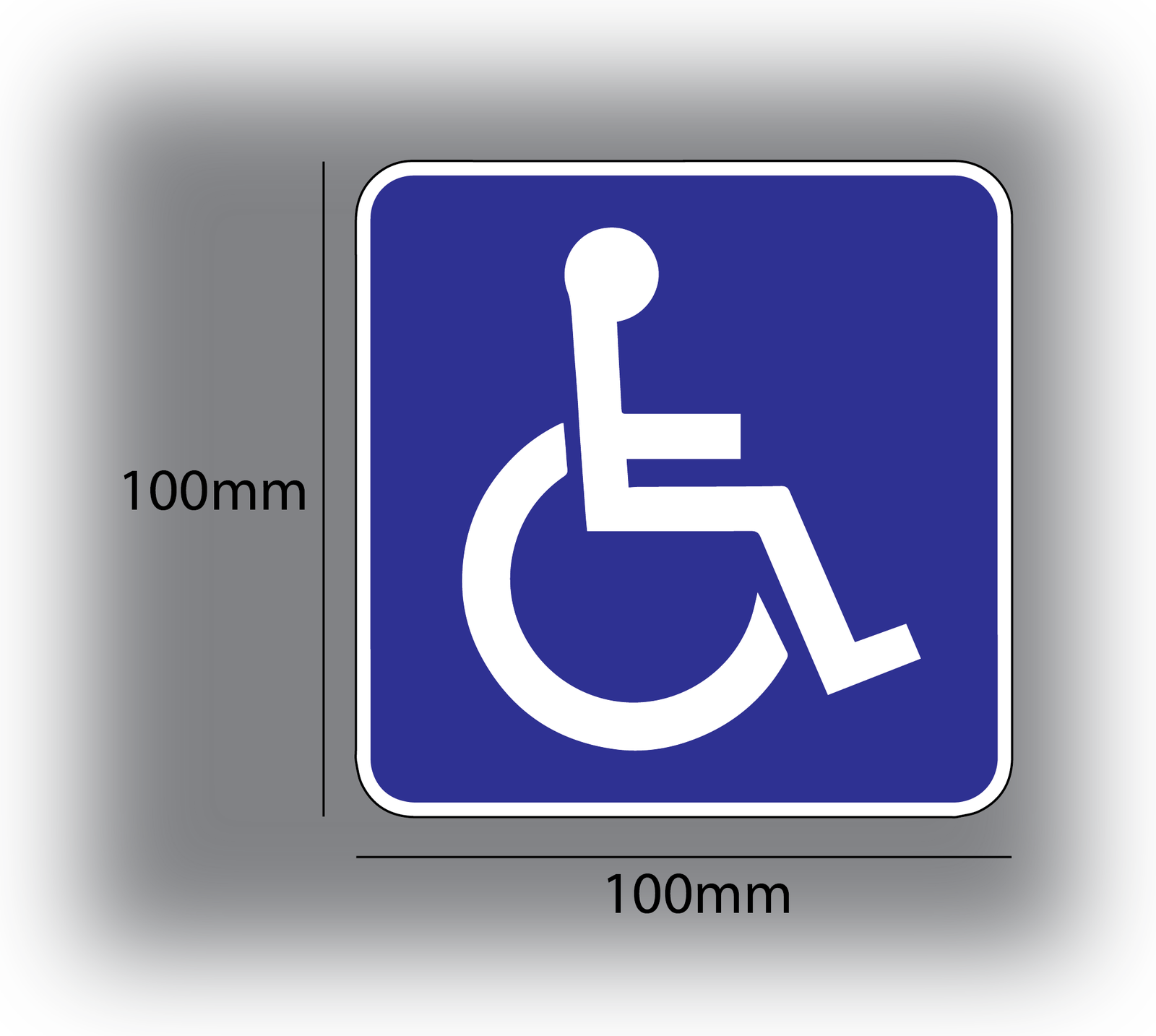 X2 Blue Badge Holder Stickers 100mm x 100mm