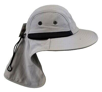 c205c5a4c BOONIE HAT BRIM Ear Neck Cover Sun Flap Cap Men Women Fishing Hiking  Outdoor OS