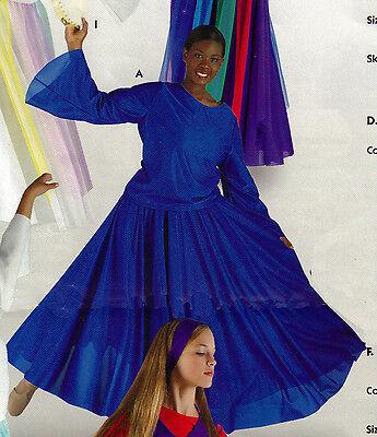 NWT Praise Skirt FloorLength Skyblue Full Circle SKIRT only Womens szs
