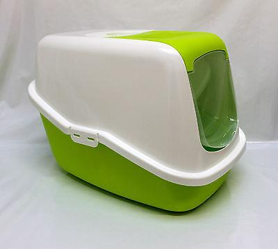 Cat Kitten Hooded litter tray toilet box,door Smart Cat enclosed cat loo Savic 2