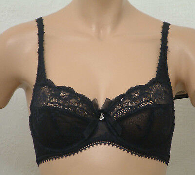 White or Black Full cup Bra in Lilac Lace,Underwired Charnos Rapport RA002