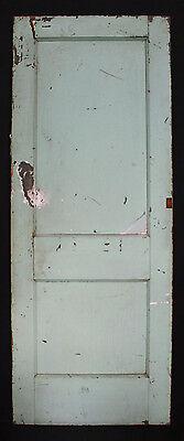 "9 avail 30""W Antique Vintage Interior Solid Wood Wooden Door Flat Recessed Panel 4"