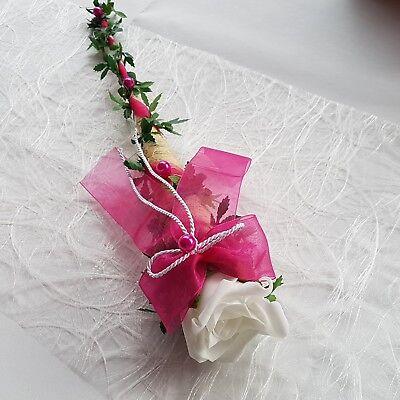 4x Tischdeko Konfirmation Sisaltüte maigrün creme Hochzeit Kommunion DKD/_STMG4