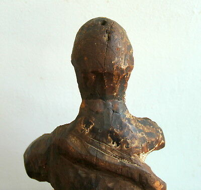 God the Father Carved Wood Antique Santo 17C Spanish Colonial 5