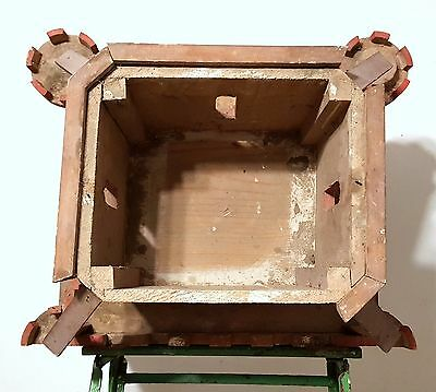 Gothic medieval chateau wall shelf Antique french wood architectural salvage 12