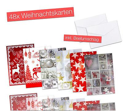 48x Geschenkkarten Karten Weihnachtskarten Weihnachten mit Umschlägen / Kuvert 2