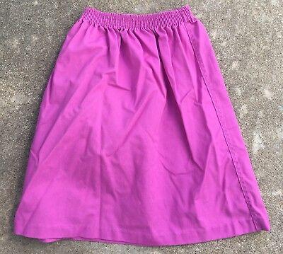 Vintage Kim Stacy Skirt Made In USA 70s 80s Girls 7 Elastic Waist 2