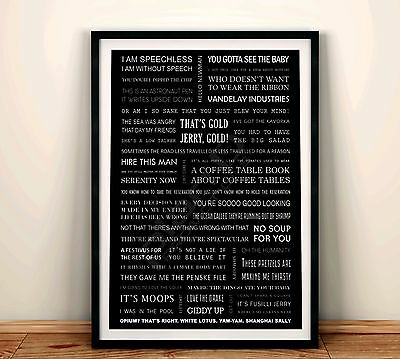 Seinfeld Quotes Poster A4 3