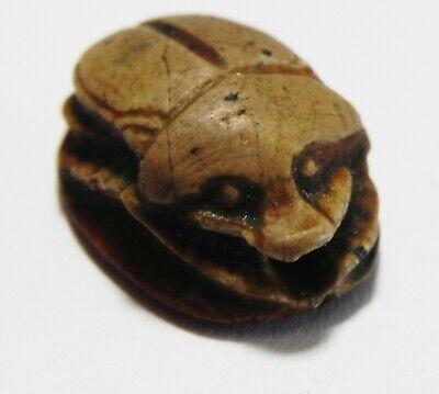 Zurqieh -As15990- Ancient Egypt, New Kingdom Stone Scarab. 1400- 1200  B.c 2