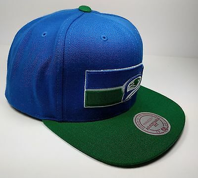 664377ad5 ... Seattle Seahawks Mitchell   Ness Vintage XL Logo Classic Snapback Hat  Cap NFL 2