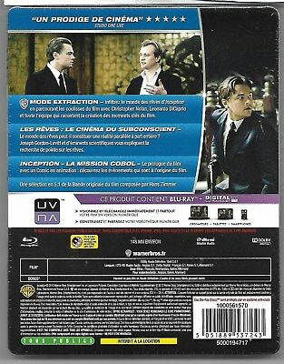 INCEPTION / Blu-Ray Steelbook Neuf sous blister - VF 2