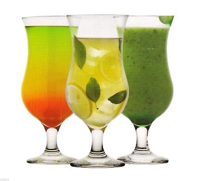 2x Fiesta Hurricane Pina Colada Cocktail Glass Large 460ml 16oz Glassware