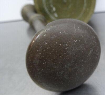 Antiker schwerer Bronze Mörser mit Pistill - Apotheker Gefäß mit Stößel 7