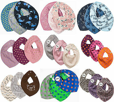 *PIPPI* Baby Halstuch Lätzchen Dreieckstuch im 3er Pack-  ideal beim Zahnen 3