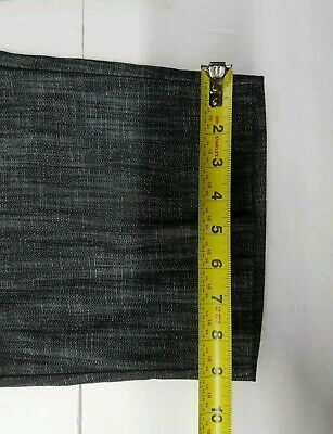 CHIME Indian Summer Short Pants 2 Pockets Black Gray Casual Women Size 11 8