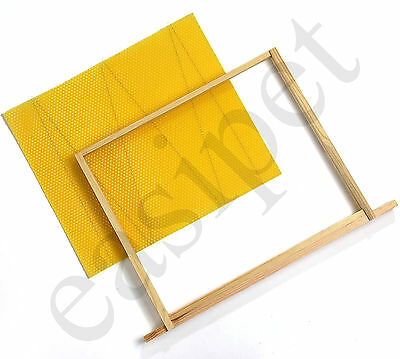 National Beehive Wired Wax Foundation Sheets and Frames Beekeeping Easibee