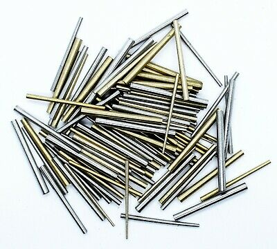 100 units Quality Brass and Steel Taper Assorted Clock Pins Repairs parts 2