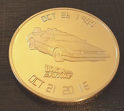 Back to the Future Gold Coin Trilogy Michael J Fox Iconic Movie Past History USA 3