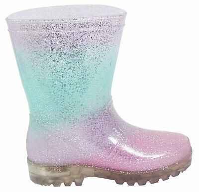 Disney Frozen 2 Girls Light Up Wellington Boots Elsa Anna Flashing Snow Wellies 5
