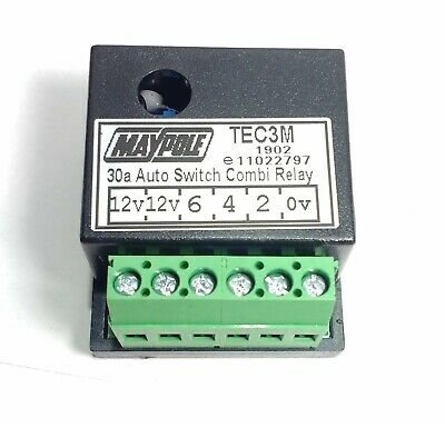 7 Pin Socket 12S Pre-Wired Wiring Kit 2M 30A Switching Relay Maypole Mp3811B 2