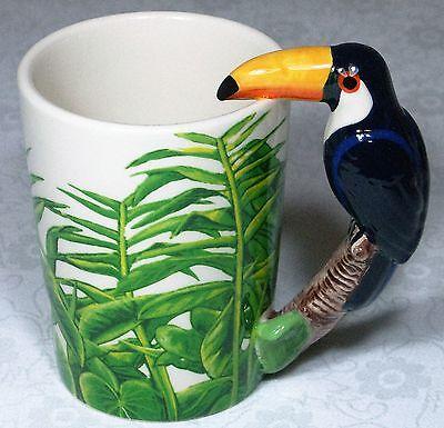 Ceramic Mug TOUCAN Bird in Rain Forest 9319844520058 RAINFTOUM Gift Box 7