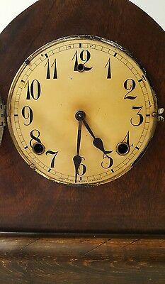 Large Antique Gilbert Mantle Clock w/key- Working 2