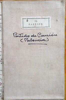 PARTIDO DE CARRIÓN.  Mapa de Tomás López,  1785