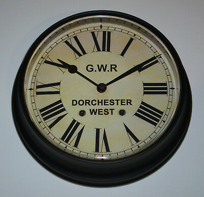 Great Western Railway, GWR Victorian Style Waiting Room Clock, Dorchester West. 2