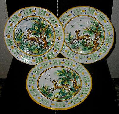 Plato Decoración, Ceramica De Manises,  Sello V.c. España, 22'50 Cm Diametro