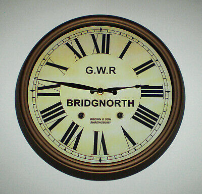 Great Western Railway GWR Victorian Style Clock, Bridgnorth Station 3