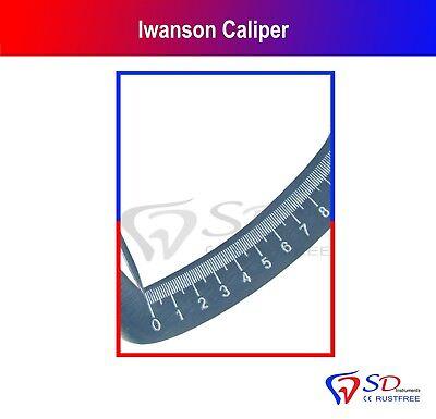 Iwanson Gauge Spring Measuring Caliper 10th Guage Jewellers Dental Crown Tools