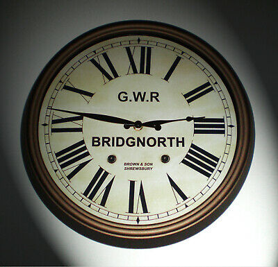 Great Western Railway GWR Victorian Style Clock, Bridgnorth Station 2