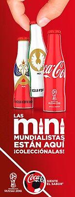 NEW 24 MINI COCA COLA BOTTLES RUSSIA SOCCER FOOTBALL WORLD CUP 2018 MEXICO