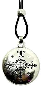 Voodoo Pendant Necklace Papa Simbi Loa Veve Tahiti Protective Talisman Jewellery