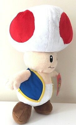 "NWT Super Mario Jumbo Giant 22/"" Toad Plush"