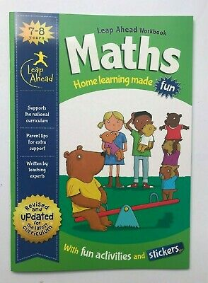 KS1 English & Maths Leapahead Home Learning Workbooks For Kids Age 7-8 years New 3