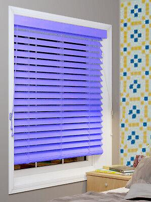 Pvc Wood Wooden Grain Effect Venetian Window Blind / Blinds Home Office Easy Fit 3
