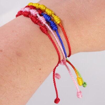 Pulsera roja de 7 nudos de la suerte para hombre o mujer de hilo bracelets 4