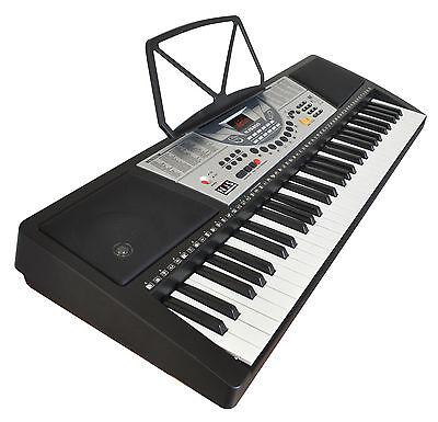 NJS 61 Key Full Size Electronic Keyboard, Sheet Music Stand, Headphones, Stool 4