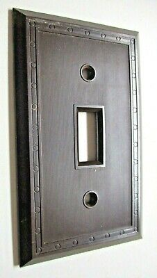Sem Co 1801 USA Brown Bakelite Antique Switch Wall Plate Cover Fine Lines Dots 4