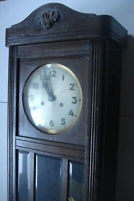 Antique Traditional Pendulum Wall Clock - Circa Early 1900's From Manchester 2