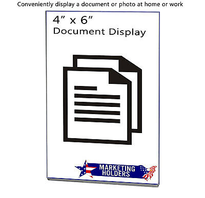 """Magnetic Ad Frame Sign Holder 4""""W x 6""""H Wall Mount with No Holes 6"""