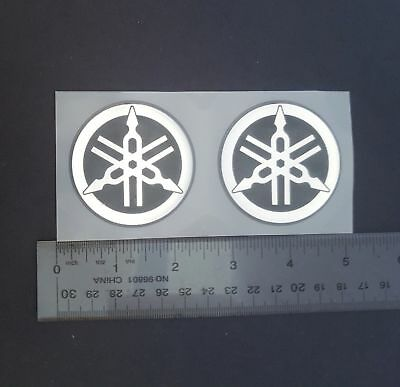 High Quality 3M Yamaha Resin logo Sticker Emblem 55 MM Set of two 2