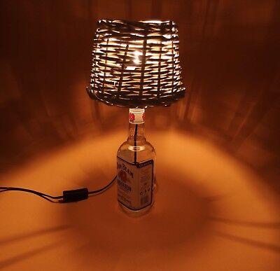 JimBeam - Flaschen Lampe Tischlampe LED 220V mit Schalter SEHR ORIGINELL S1-Korb 3