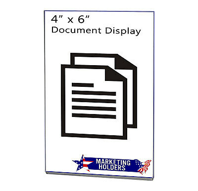 """Magnetic Ad Frame Sign Holder 4""""W x 6""""H Wall Mount with No Holes 9"""