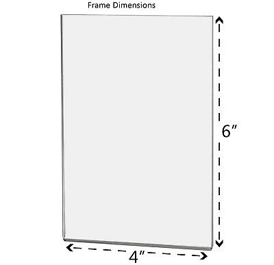 """Magnetic Ad Frame Sign Holder 4""""W x 6""""H Wall Mount with No Holes 2"""