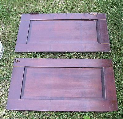 """Antique Vintage Pair Cabinet Doors from Old School Chemistry Lab 30"""" Tall 5"""